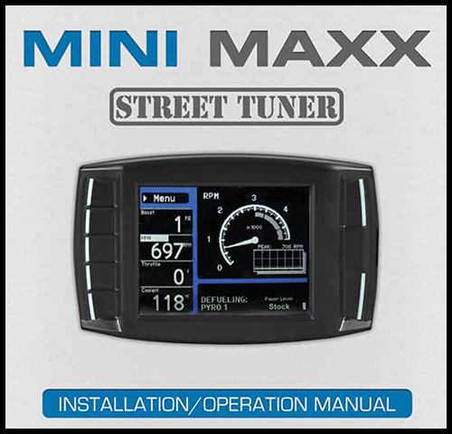 Mini Maxx Instruction Manual
