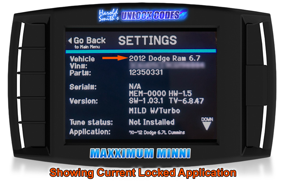 Mini Maxx - Vin unlock H/&S Performance XRT Pro