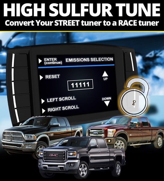 H&S High Sulfur Unlock Code for XRT Pro and Mini Maxx Tuners