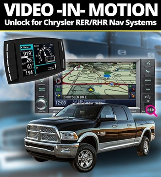 111008 - Video In Motion Unlock Code for your RHR or RER Chrysler Navigation System in your 2006-2012 Dodge Cummins 6.7L truck. Works with H&S Mini Maxx tuners