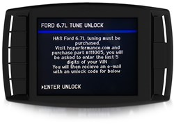 Picture of 111005 Ford 6.7L Powerstroke Basic Tune Unlock Code - H&S Mini Maxx & XRT Pro